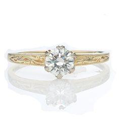 Replica Art Deco Engagement Ring    US 2,250 (1/2 carat)