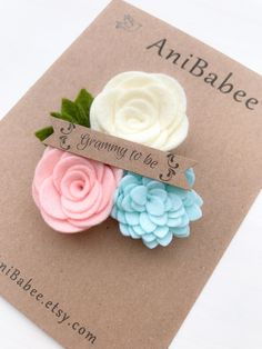 Grandma to be Corsage Baby Shower Corsage Corsage Felt