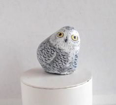 This sweet owl is hand painted rock with acrylics on a natural river stone. Paper weight, treasure gift for any owl lover, 3D pet for the house,