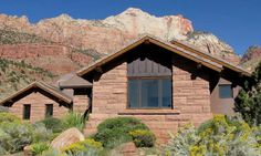 Home in Zion National Park in Springdale, Utah ~ One of the coolest places ever! I would love to spend some time there, our little drive-through wasn't enough.