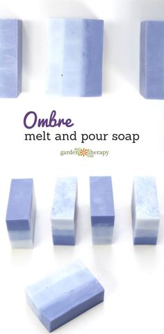 This attractive ombre melt and pour soap is lightly scented with lavender and moisturizing with rich shea butter and it's easy to make at home.