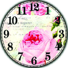 DECOPAULA Shabby Chic Clock, Clock Flower, Face Images, Decoupage Vintage, Arte Popular, Rose Design, Vintage Wood, Crafts To Make, Chabby Chic