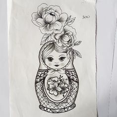 Discover recipes, home ideas, style inspiration and other ideas to try. Mom Tattoos, Small Tattoos, Sleeve Tattoos, Temp Tattoo, Temporary Tattoo, Russian Doll Tattoo, Nesting Doll Tattoo, Elegant Tattoos, Traditional Tattoo