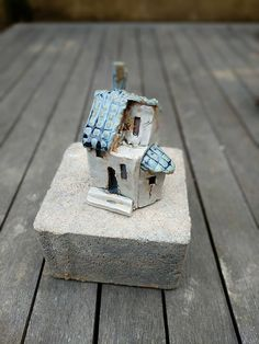 Small houses Little houses Miniatures Ceramic house Small