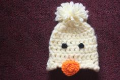 Baby Chick Beanie by VeesAccessories on Etsy, $12.00
