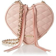 Rebecca Minkoff Heart Cross-Body Bag A heart-shaped Rebecca Minkoff bag styled in soft, quilted leather. Long tassels hang from the top two-way zips. Lined Quilted Bag, Quilted Leather, Fashion Bags, Fashion Backpack, Rebecca Minkoff, Boho Chic, Buy Handbags Online, Women's Handbags, Shopping Hacks