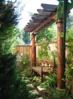 bench and arbor