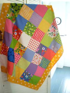 Hoopla Patchwork Quilt Heirloom Blanket by carouselbelle on Etsy