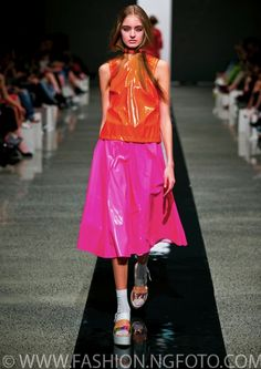 Bright as bright on the runway for COOP by Trelise Cooper.