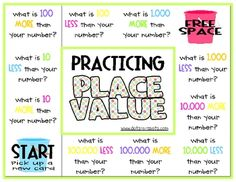 Here are two different game boards for enhancing place value understanding.