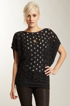 Cotton Boatneck Crochet Sweater