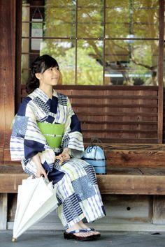 浴衣 ゆかた かわいい 古典 パッチワーク きもの京小町 yukata