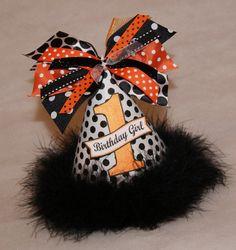 Black White and Orange Halloween Sparkly Polka Dot by shoplissy