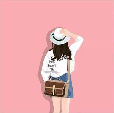 New wall paper girly art Ideas Cartoon Drawings Of People, Girly Drawings, Cartoon People, Hair Drawings, Couple Cartoon, Girl Cartoon, Cartoon Art, Couple Illustration, Illustration Art