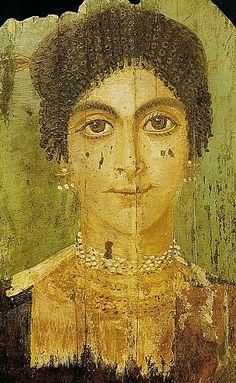 Fayum funeral portrait. jewelry
