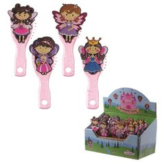 Cute Kids PVC Fairy Princess Hair Brush If you love bright colour novelty items then check out our PVC gift and collectables range The range includes Nature Spirits, Christmas Stocking Fillers, Fairy Figurines, Princess Hairstyles, Fairy Princesses, Novelty Items, Gadget Gifts, Hair Brush, New Age
