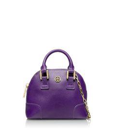 Purple Tory Burch Handbag.