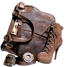 obuv (12).png ❤ liked on Polyvore featuring steampunk, bags, filler, accessories and shoes