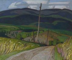 Alfred Joseph Casson (Canadian, 1898-1992), Vardy Settlement Road. Oil on board, 23.5 x 28.6 cm.