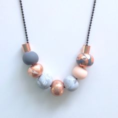 polymer bead necklace - Google Search