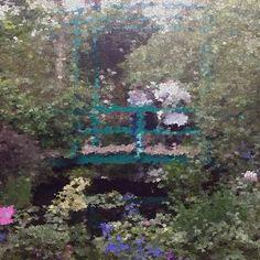"""""""NYBG Monet's Garden impressionist lens #monetsgarden #awesomeapps"""""""