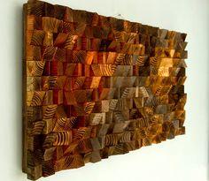 Large Rustic Art wood wall sculpture abstract by ArtGlamourSligo