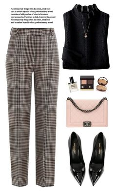 """""""Plaid Pants"""" by yexyka ❤ liked on Polyvore featuring 3.1 Phillip Lim, Yves Saint Laurent, Chanel, Tom Ford, D.S. & DURGA and Wander Beauty"""