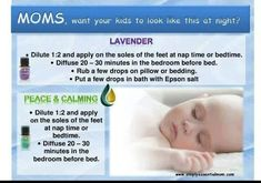Natural way to help babies sleep. Young Living Lavender and Peace and Calming essential oils