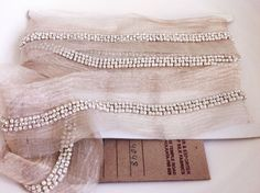 3 Ft. 1 Yard Rhinestone and Pearl Trim Ribbon by MaisJamais, $12.00