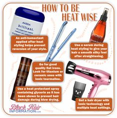 How To Be Heat Wise http://www.blackhairinformation.com/our-newsletters/postcard-tips/how-to-be-heat-wise-bhi-postcard-tips/