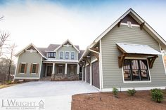 Wright Building Company designs and builds high quality, custom homes throughout the greater Birmingham Alabama area. Wright we truly love the art of building. House Siding, House Paint Exterior, Exterior House Colors, Custom Home Builders, Custom Homes, Garage Design, House Design, Rustic Houses Exterior, House Color Palettes