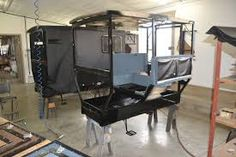 Amish Buggy being built