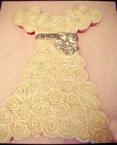 wedding dress pull apart perfect for a bridal shower! This is what I'm going to make, just with purple icing!!