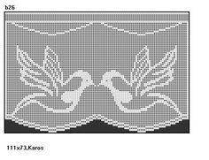 1 Filet Crochet, Crochet Patterns Filet, Crochet Diagram, Crochet Motif, Crochet Doilies, Cross Stitch Patterns, Crochet Curtain Pattern, Crochet Curtains, Curtain Patterns