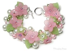 Springtime Love Pastel Pink & Green Floral by whimsydaisydesigns, $36.00