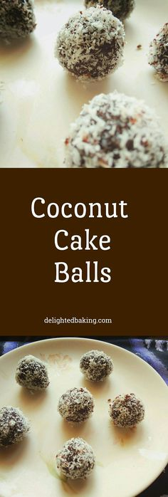 Coconut Cake Balls : Sweet balls prepared using cake, frosting and desiccated coconut.