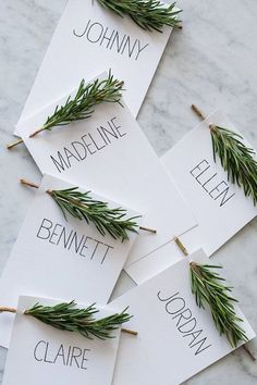 Evergreen Place Cards - 30 DIYs To Get You In The Fall Spirit - Photos