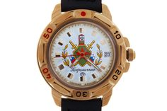 """WATCH VOSTOK KOMANDIRSKIE 439553 POGRANICHNIE. Specifically for this model, the watch was renamed from """"Komandirskie"""" (Commander's) to """"Pogranichnie"""" (Border). #russian #mechanical #military #watches #vostok #komandirskie #gifts #souvenirs #borderforce #tricolor"""