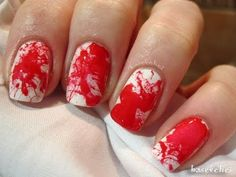 blood splatter manicure