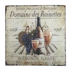 French Wine Label Sign Wall Decor 155 Square *** Check this awesome product by going to the link at the image. (This is an affiliate link and I receive a commission for the sales)