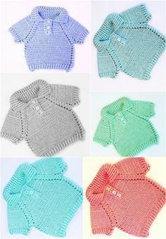 Crochet Fast And Easy Baby Jersey - Knitting Manualidades Crochet For Boys, Free Crochet, Knit Crochet, Crochet Gifts, Easy Crochet, Baby Patterns, Knitting Patterns, Crochet Ideas, Baby Outfits