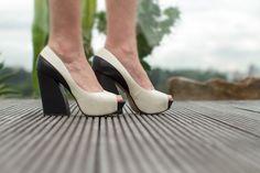 peep toe preto e branco esdra - Juliana e a Moda   Dicas de moda e beleza por Juliana Ali