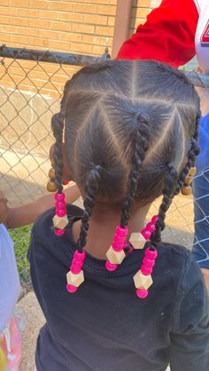 Little Mixed Girl Hairstyles, Cute Hairstyles For Kids, Baby Girl Hairstyles, Kids Braided Hairstyles, Toddler Hairstyles, Braids For Short Hair, Long Braids, Toddler Braids, Little Girl Braids
