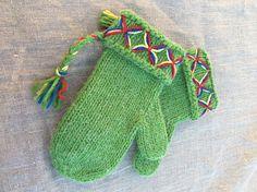 Swedish lovikka mittens womens mittens wool mittens