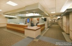 Front desk at Madison County Hospital in Winterset Iowa. http://www.kurtjohnsonphotography.com/
