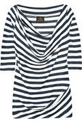 Vivienne Westwood Anglomania Donna striped stretch-linen top.