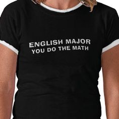 english major tshirt