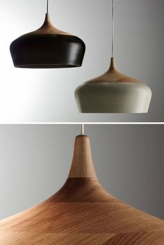 Lamp Coco by design label Coco Flip. Brass Lamp, Pendant Lamp, Pendant Lighting, Wood Pendant Light, Interior Lighting, Home Lighting, Lighting Design, Dining Lighting, Light Fittings