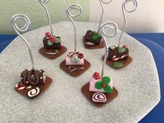 Marque place bûche de Noël chocolat,fraise : Cuisine et service de table par oeil-de-tigre