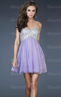 Gorgeous chiffon sequence home coming dress